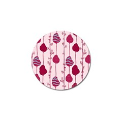 Original Tree Bird Leaf Flower Floral Pink Wave Chevron Blue Polka Dots Golf Ball Marker (4 Pack) by Mariart