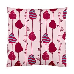 Original Tree Bird Leaf Flower Floral Pink Wave Chevron Blue Polka Dots Standard Cushion Case (one Side) by Mariart