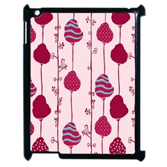 Original Tree Bird Leaf Flower Floral Pink Wave Chevron Blue Polka Dots Apple Ipad 2 Case (black) by Mariart