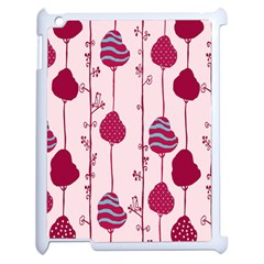 Original Tree Bird Leaf Flower Floral Pink Wave Chevron Blue Polka Dots Apple Ipad 2 Case (white) by Mariart