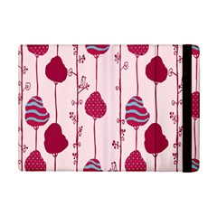 Original Tree Bird Leaf Flower Floral Pink Wave Chevron Blue Polka Dots Ipad Mini 2 Flip Cases by Mariart