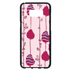 Original Tree Bird Leaf Flower Floral Pink Wave Chevron Blue Polka Dots Samsung Galaxy S8 Plus Black Seamless Case