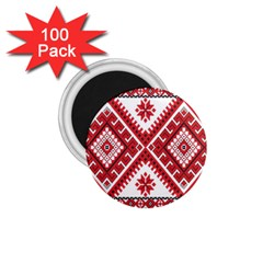 Model Traditional Draperie Line Red White Triangle 1 75  Magnets (100 Pack)