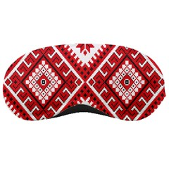 Model Traditional Draperie Line Red White Triangle Sleeping Masks by Mariart