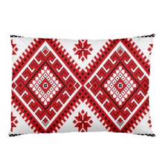 Model Traditional Draperie Line Red White Triangle Pillow Case (two Sides)