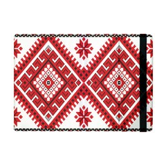Model Traditional Draperie Line Red White Triangle Apple Ipad Mini Flip Case by Mariart