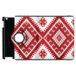 Model Traditional Draperie Line Red White Triangle Apple iPad 3/4 Flip 360 Case Front