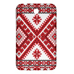 Model Traditional Draperie Line Red White Triangle Samsung Galaxy Tab 3 (7 ) P3200 Hardshell Case  by Mariart