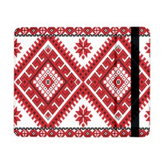 Model Traditional Draperie Line Red White Triangle Samsung Galaxy Tab Pro 8 4  Flip Case by Mariart