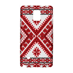 Model Traditional Draperie Line Red White Triangle Samsung Galaxy Note 4 Hardshell Case by Mariart