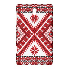 Model Traditional Draperie Line Red White Triangle Samsung Galaxy Tab S (8 4 ) Hardshell Case  by Mariart