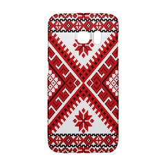 Model Traditional Draperie Line Red White Triangle Galaxy S6 Edge by Mariart