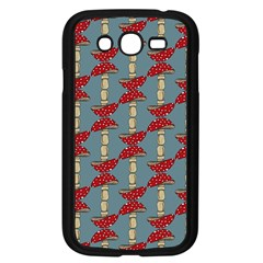 Mushroom Madness Red Grey Polka Dots Samsung Galaxy Grand Duos I9082 Case (black) by Mariart