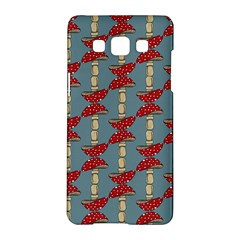 Mushroom Madness Red Grey Polka Dots Samsung Galaxy A5 Hardshell Case  by Mariart