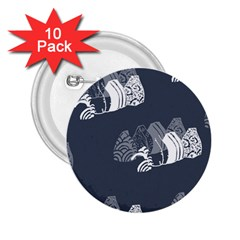 Japan Food Sashimi 2 25  Buttons (10 Pack)