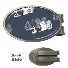 Japan Food Sashimi Money Clips (oval)  by Mariart
