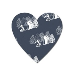 Japan Food Sashimi Heart Magnet by Mariart