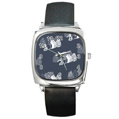 Japan Food Sashimi Square Metal Watch by Mariart