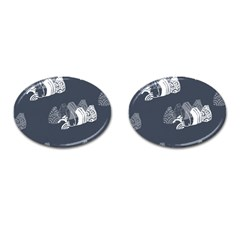 Japan Food Sashimi Cufflinks (oval) by Mariart
