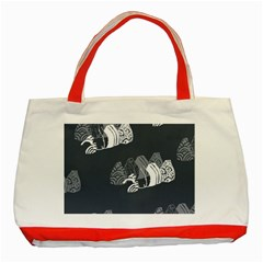 Japan Food Sashimi Classic Tote Bag (red) by Mariart