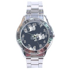 Japan Food Sashimi Stainless Steel Analogue Watch by Mariart