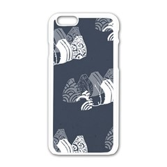 Japan Food Sashimi Apple Iphone 6/6s White Enamel Case by Mariart