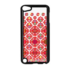 Plaid Red Star Flower Floral Fabric Apple Ipod Touch 5 Case (black) by Mariart