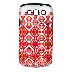 Plaid Red Star Flower Floral Fabric Samsung Galaxy S Iii Classic Hardshell Case (pc+silicone) by Mariart