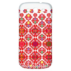 Plaid Red Star Flower Floral Fabric Samsung Galaxy S3 S Iii Classic Hardshell Back Case by Mariart