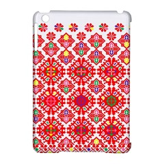 Plaid Red Star Flower Floral Fabric Apple Ipad Mini Hardshell Case (compatible With Smart Cover) by Mariart