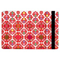 Plaid Red Star Flower Floral Fabric Ipad Air 2 Flip by Mariart