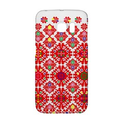 Plaid Red Star Flower Floral Fabric Galaxy S6 Edge by Mariart