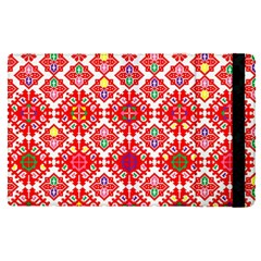 Plaid Red Star Flower Floral Fabric Apple Ipad Pro 9 7   Flip Case by Mariart