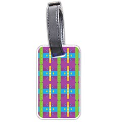 Stripes And Dots                           Luggage Tag (one Side) by LalyLauraFLM