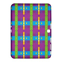 Stripes And Dots                     Samsung Galaxy Tab 4 (10 1 ) Hardshell Case by LalyLauraFLM