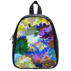 Color Mix Canvas                           School Bag (small) by LalyLauraFLM