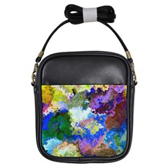 Color Mix Canvas                           Girls Sling Bag by LalyLauraFLM