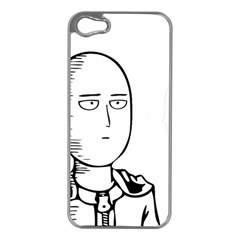 Saitama Apple Iphone 5 Case (silver) by quirogaart