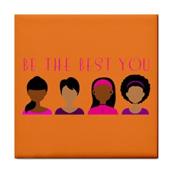 Black Girls Be The Best You Tile Coaster by kenique