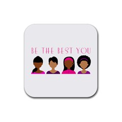 Black Girls Be The Best You Rubber Square Coaster (4 Pack) by kenique