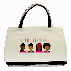 Black Girls Be The Best You Basic Tote Bag by kenique