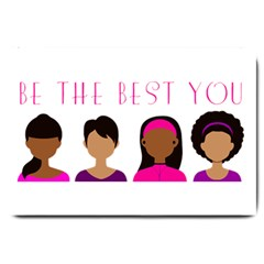 Black Girls Be The Best You Large Doormat by kenique