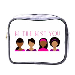 Black Girls Be The Best You Mini Toiletries Bag (one Side) by kenique