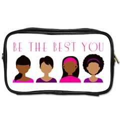 Black Girls Be The Best You Toiletries Bag (one Side) by kenique