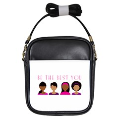 Black Girls Be The Best You Girls Sling Bag by kenique
