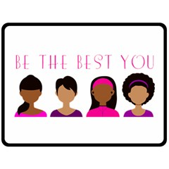 Black Girls Be The Best You Fleece Blanket (large) by kenique