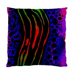 Frog Spectrum Polka Line Wave Rainbow Standard Cushion Case (one Side)