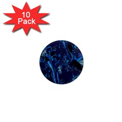 Pattern Butterfly Blue Stone 1  Mini Magnet (10 Pack)