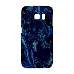 Pattern Butterfly Blue Stone Galaxy S6 Edge by Mariart