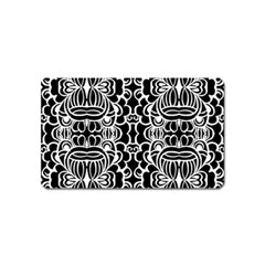 Psychedelic Pattern Flower Black Magnet (name Card) by Mariart
